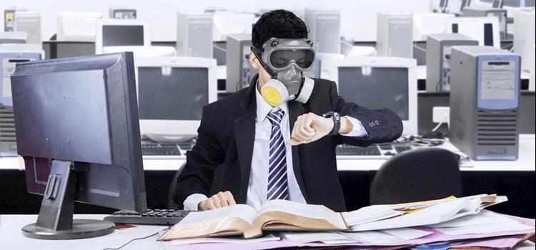 aire interior contaminado