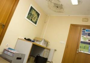 Problemas de humedad en el centro de salud de Laxe